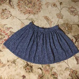 Navy blue floral skirt